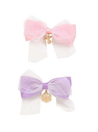 Blackheart Pastel Bow Baby Charm Hair Bows,