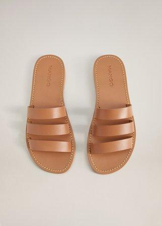 Leather strap sandals - Women   Mango USA