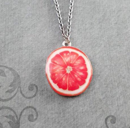 Grapefruit Slice Necklace