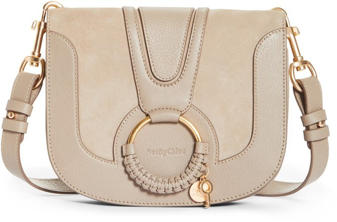 Hana Suede & Leather Shoulder Bag