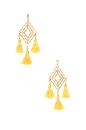 x REVOLVE Geometric Tassel Earrings