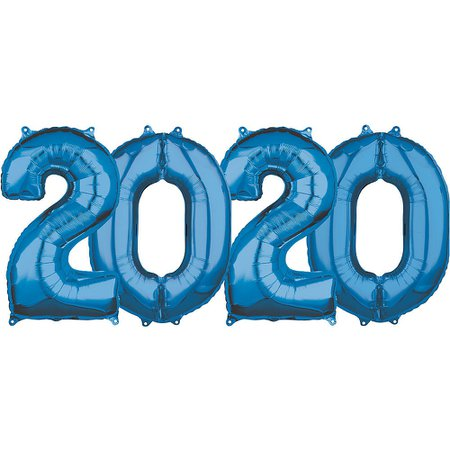 26in Blue 2020 Number Balloon Kit   Party City Canada