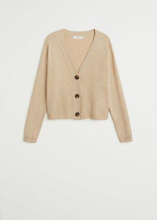 Button knit cardigan - Women   Mango United Kingdom