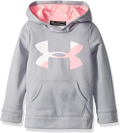Amazon.com: Under Armour Girls' Armour Fleece Big Logo Hoodie,Black (001)/Penta Pink, Youth Small: Under Armour: Clothing