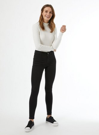 Organic Black Frankie Denim Jeans