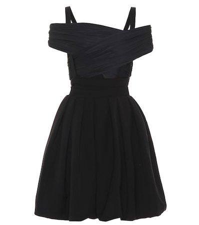 Cilla stretch-satin dress