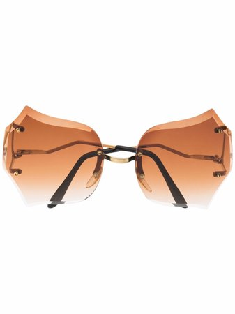 Linda Farrow statement tinted sunglasses - FARFETCH