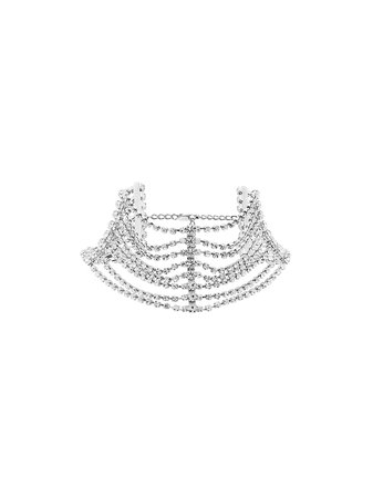 AREA Embellished multi-chain Choker Necklace - Farfetch