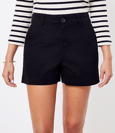 The Petite Curvy Washed Twill Short
