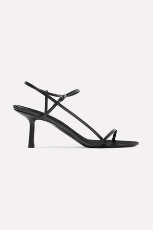 Bare Leather Sandals - Black