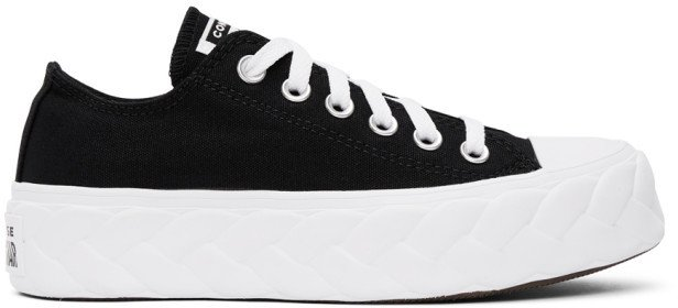 Black Cable Chuck Lift Sneakers