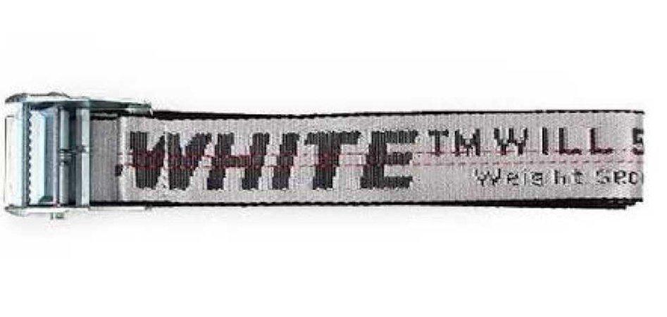 off white white belt