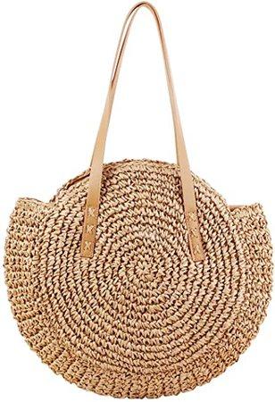 Amazon.com: CHIC DIARY Women Straw Shoulder Bag Summer Beach Large Tote Bag Handmade Woven Handbag (#02-Khaki): Shoes