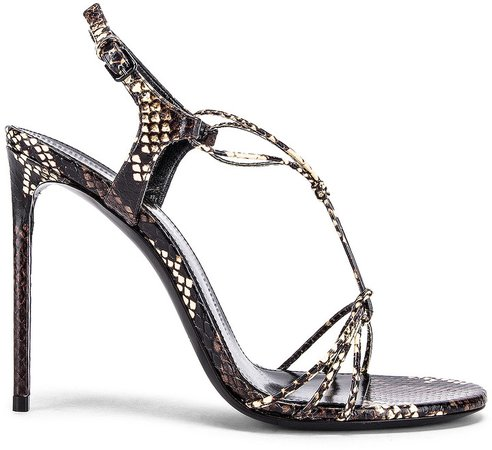 Robin Lace Sandals in Brown | FWRD