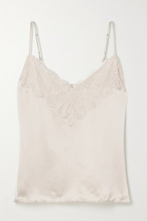 Cami NYC | The Katya lace-trimmed silk-charmeuse camisole | NET-A-PORTER.COM