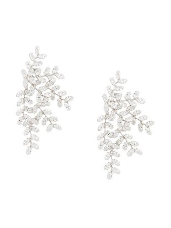 Jennifer Behr Crystal Embellished Earrings - Farfetch
