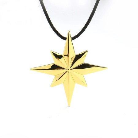 Marvel Avengers 4 Captain Marvel Necklace Gold Color Star | Etsy