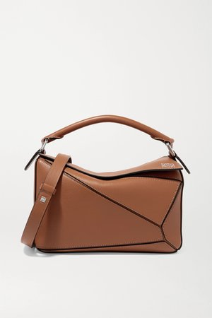 Tan Puzzle small leather shoulder bag   Loewe   NET-A-PORTER