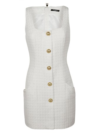 Balmain Rear Zipped Sleeveless Dress