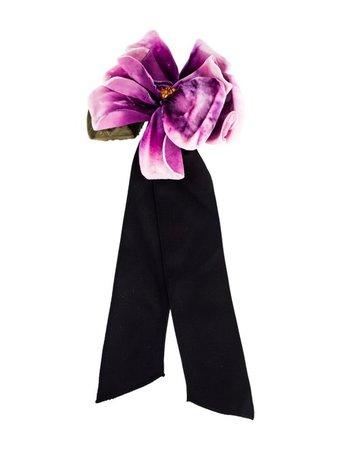 Dolce & Gabbana Runway Flower Brooch - Brooches - DAG129542 | The RealReal