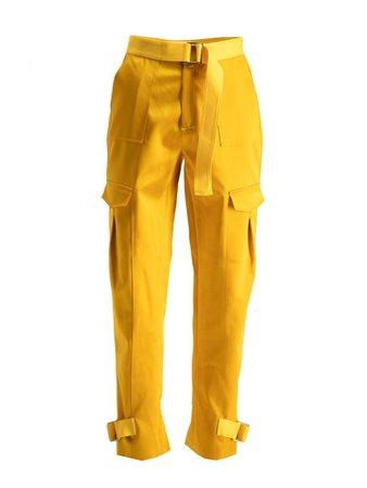 Yellow cargo pants