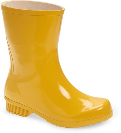 Polished Mid Rain Boot