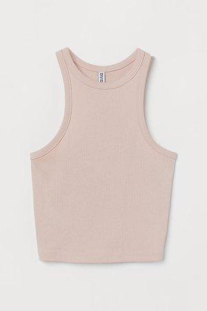 Ribbed Tank Top - Light pink - Ladies   H&M US