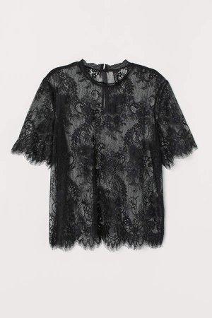 Lace Top - Black