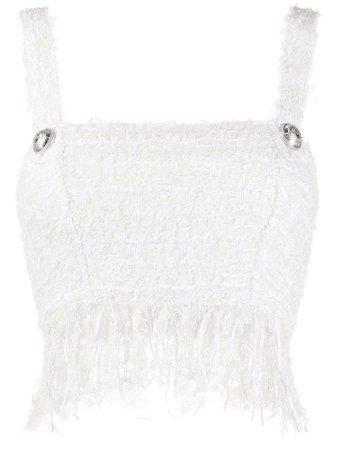 Balmain Tweed Cropped Top | Farfetch.com