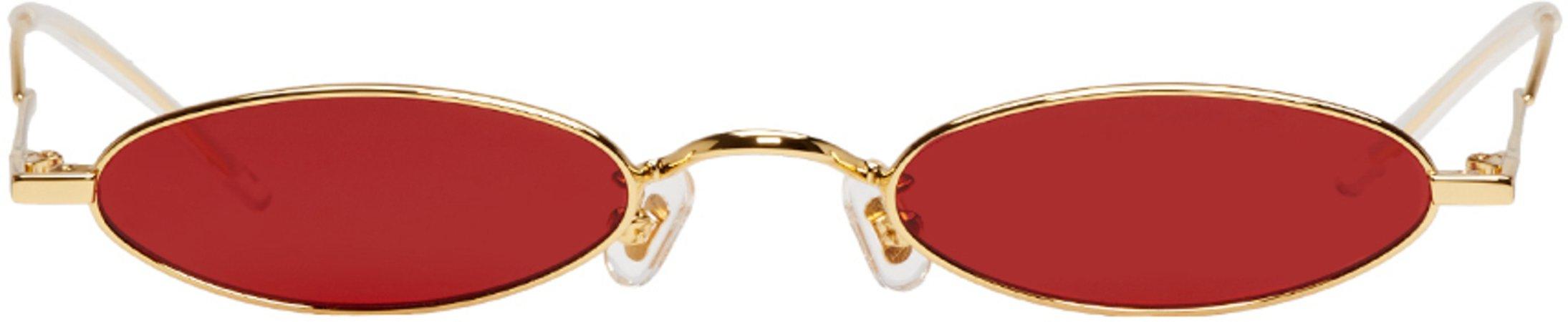Gentle Monster  Gold & Red Vector Sunglasses €255 EUR