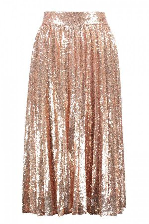 TFNC BOHO ROSE GOLD SEQUIN SKIRT | TFNC BOTTOMS