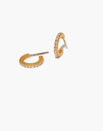 Sparkle Pavé Huggie Mini Hoop Earrings