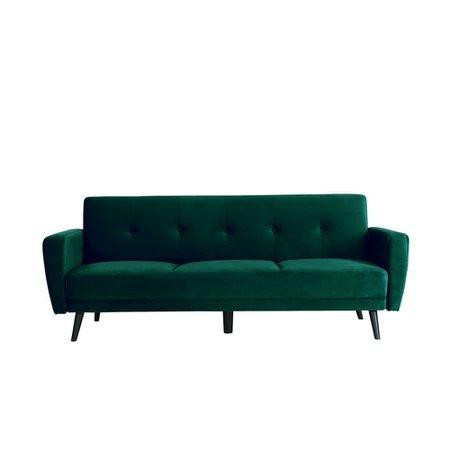 luxo living green velvet couch esben