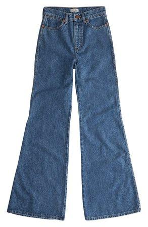 Wrangler Wanderer Heritage High Waist Wide Leg Jeans | Nordstrom