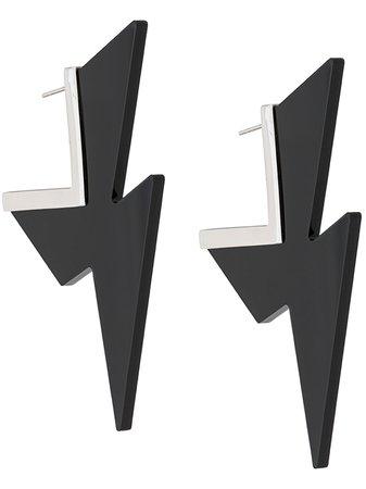 Black Isabel Marant Ziggy Earrings | Farfetch.com