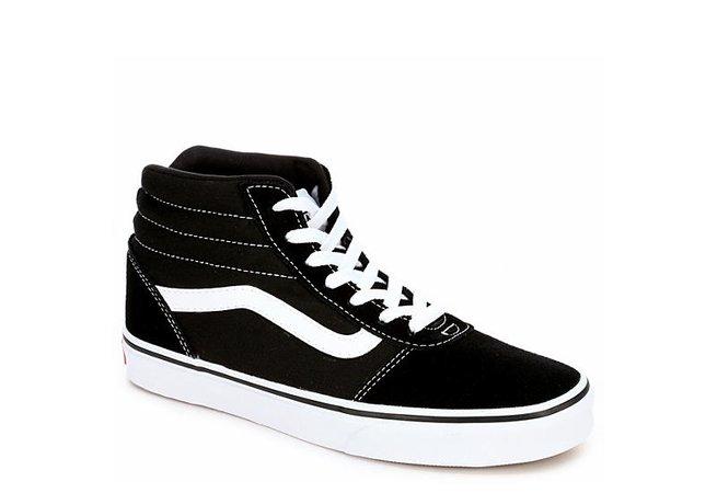 Black Vans Womens Ward High Top Sneaker | Athletic | Off Broadway Shoes