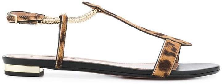 Vogue leopard sandals