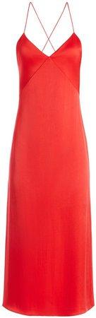 Loraine Seamed Slip Midi Dress