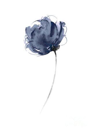 blue flowers watercolors - Google Search