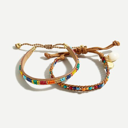J.Crew: Beachy Beaded Bracelet Set For Women