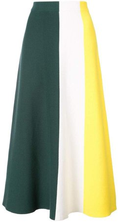 Colorblocked Knit Skirt