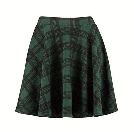 green black plaid skirt png