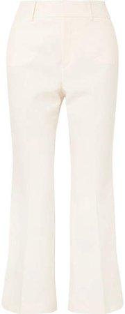 Linen-blend Flared Pants - White