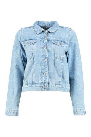Cindy Light Wash Denim Jacket | Boohoo