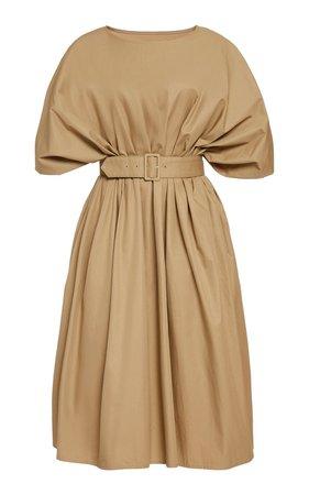 Belted Cotton-Twill Midi Dress by MM6 | Moda Operandi