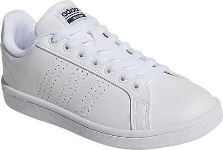 Womens adidas NEO Cloudfoam Advantage Clean Court Shoe - FTWR White/FTWR White/Core Black - FREE Shipping & Exchanges