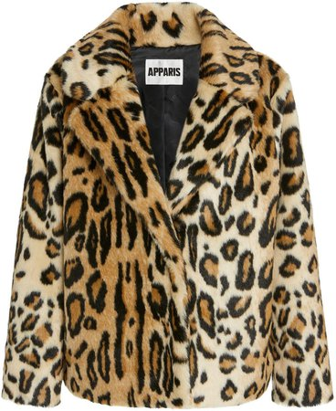 Apparis Gianna Leopard-Print Faux Fur Coat