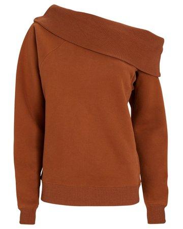Marissa Webb One-Shoulder Sweatshirt | INTERMIX®