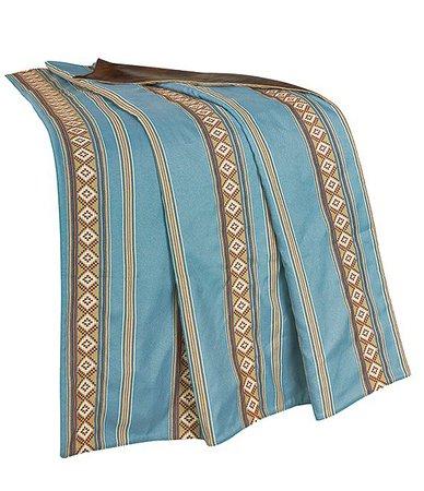 HiEnd Accents Turquoise Stripe Throw | Dillard's