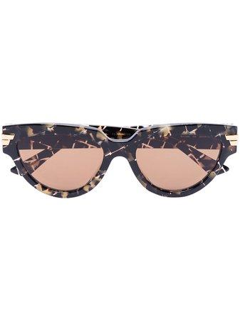 Bottega Veneta Eyewear cat-eye Frame tortoiseshell-effect Sunglasses - Farfetch